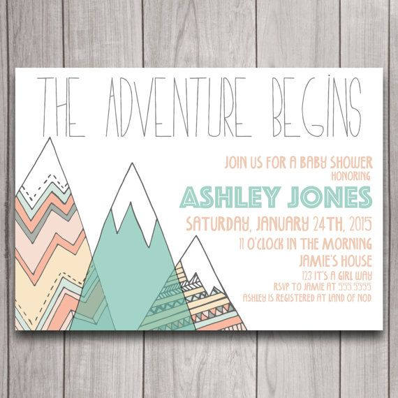 Adventure Tribal Baby Shower Invitation Digital Download, Mountains Bohemian Bridal Bachelorette Party, Pow Wow Birthday Invite Printable