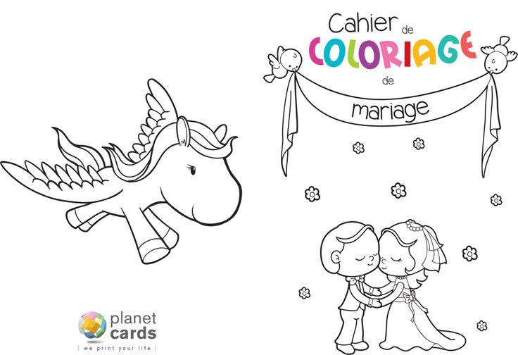 Cahier de coloriage t l charger pour un mariage animation mariage enfant bricolahes - Coloriage mariage a imprimer ...