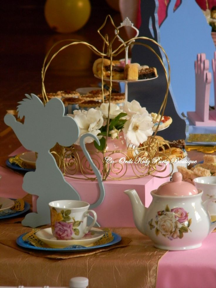 Cinderella themed Little Ladies High Tea party by Co-Ords Kidz Party Boutique