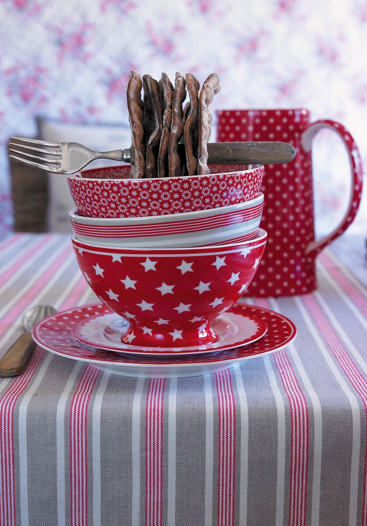 New GreenGate collection Autumn/Winter 2013: Winter Feelings Stoneware Star Red & Sophie Vintage