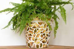 Upcycling | Blumentopf mit Mosaik | Fliesen Bruchstücke | Gestalten | Basteln