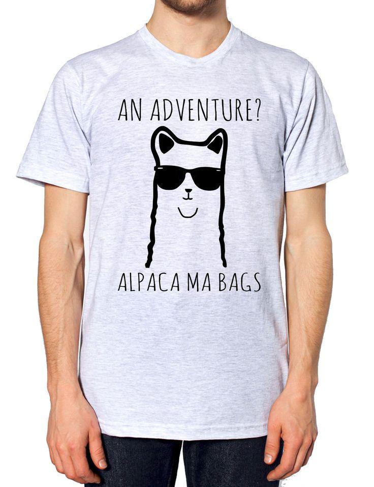 An Adventure Alpaca Ma Bags T Shirt Funny Cartoon Teen Llama Men Women Kids Girl