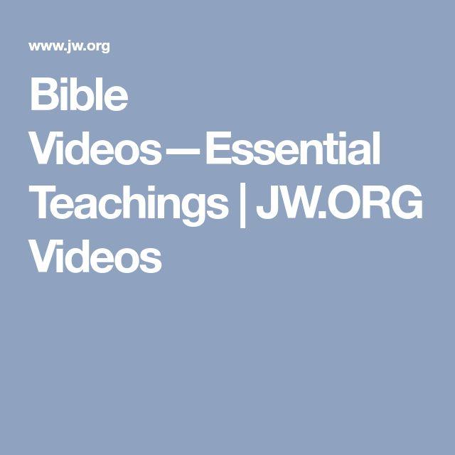 Bible Videos—Essential Teachings   JW.ORG Videos
