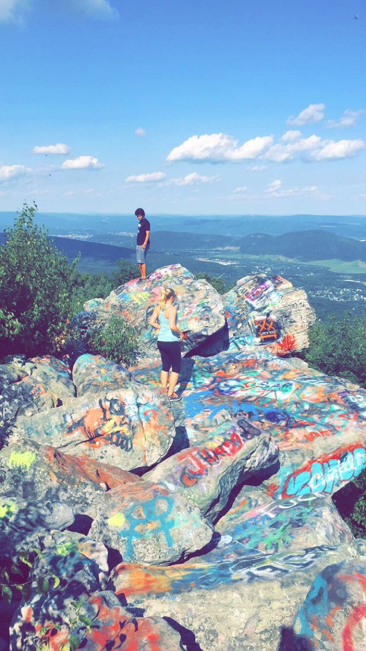 Dans rock in Frostburg Maryland. Most beautiful view of