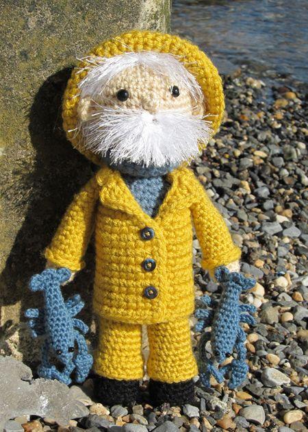 I just love him!!! Lobster man from http://karabouts.typepad.com/karabouts/2010/02/lobster-fisherman.html