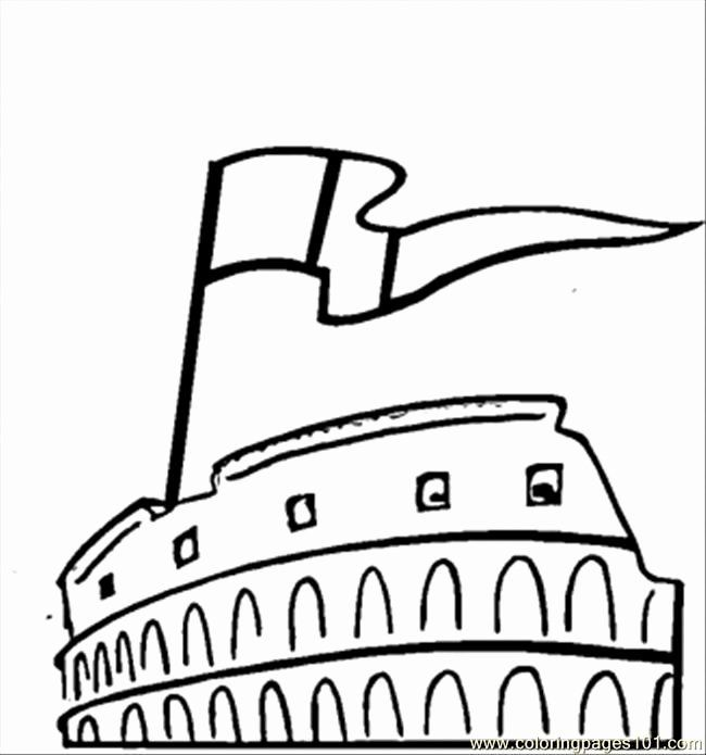 Italy Flag Coloring Page Elegant Coloring Pages Flag And Colosseum