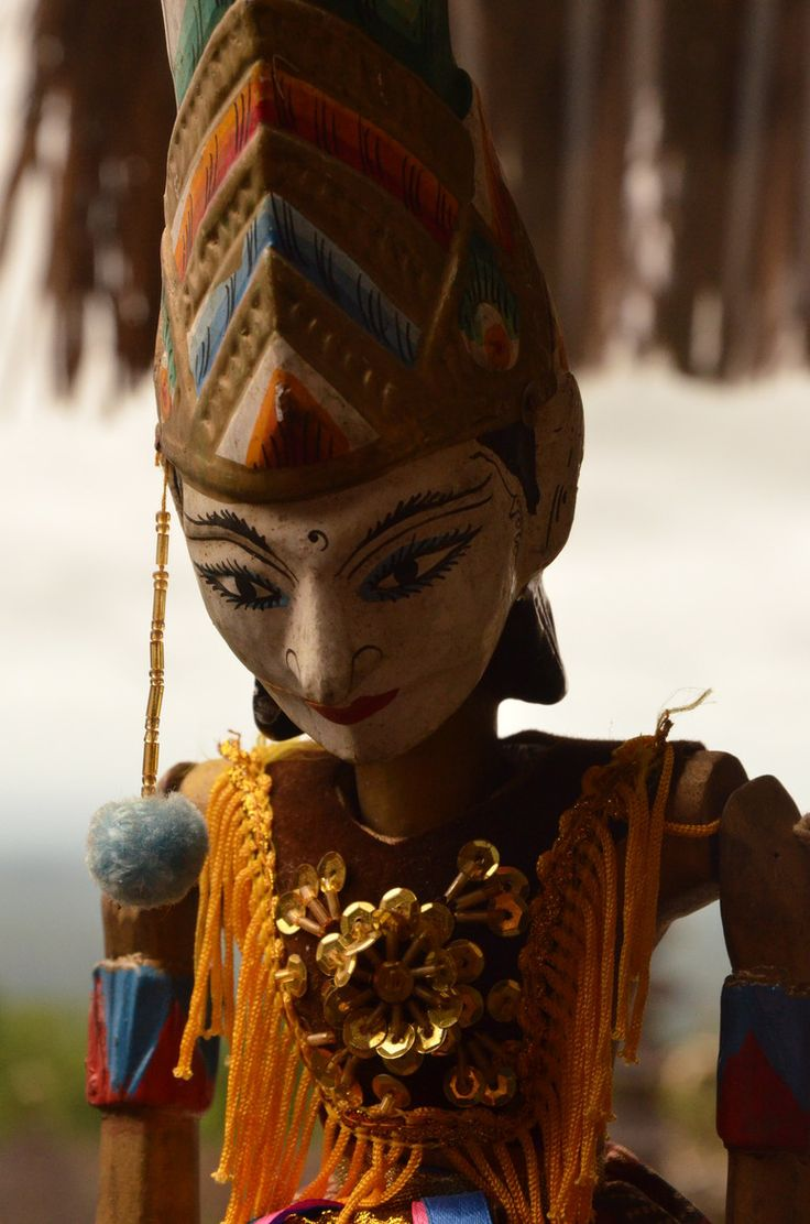 A balinese puppet. Puppetry has a big role in Balinese plays and art shows
