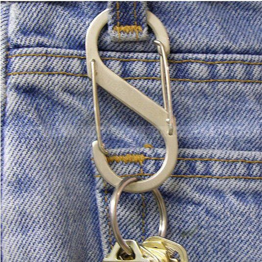 Berkemah di luar ruangan Keselamatan 8-bentuk Camp Snap Hook Carabiner Keychain Mendaki Gantungan kunci Gratis Pengiriman