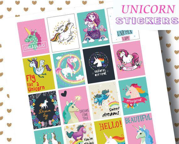 Cute Unicorn Kawaii Planner Stickers,journal note diary scrapbook embellishment
