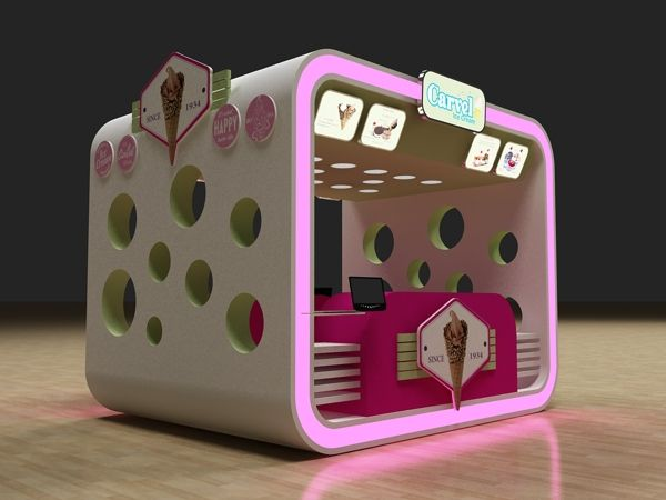 Carvel Ice Cream Kiosk by Hossam Moustafa, via Behance