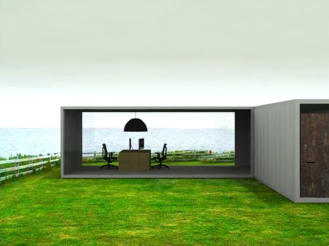 Container House in the garden