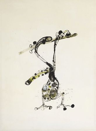 Falling Frog by JOHN OLSEN . http://www.mahoneysframing.com.au/artists/falling-frog/