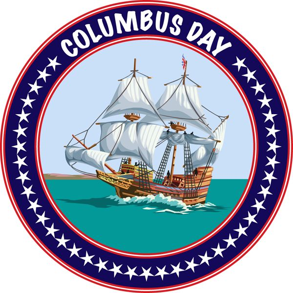 columbus day in the unites states of america thanksgiving rh pinterest com happy columbus day clipart