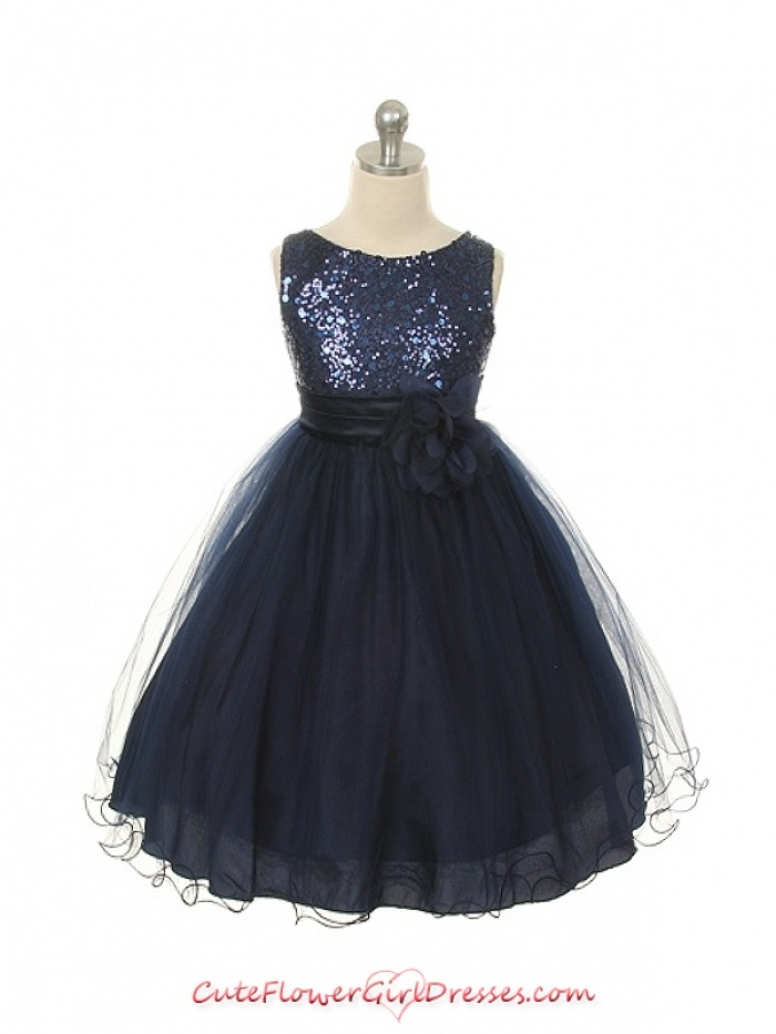 bccbedab3b0 Midnight Blue Flower Girl Dress.... Omg this comes in champagne ...
