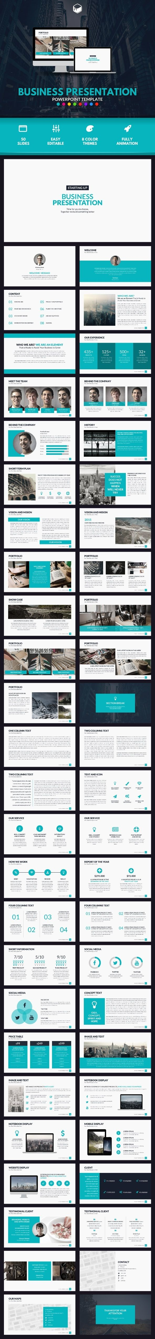 Business Presentation - PowerPoint Template #design #slides Download…