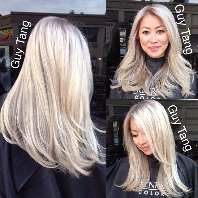 I wanna rock the grey with this Icy blonde color...H O T!!