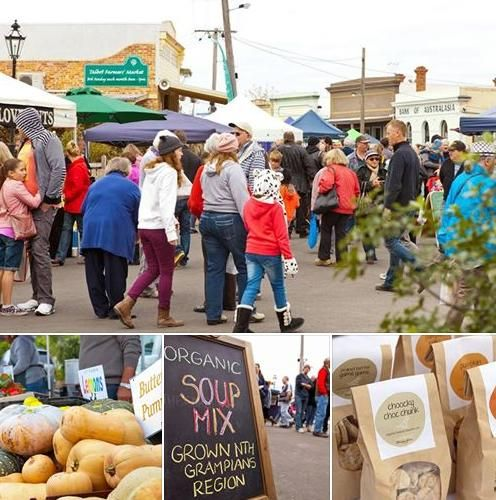If there's one thing you do this weekend, make it a trip to a farmers' market! MARKETS THIS WEEKEND:  SATURDAY Ballarat Lakeside Farmers' Market, beside Botanical Gardens, 9am to 1pm Ballan Farmers' Markets, 96 Inglis Street, Ballan, 9am to 1pm Skipton Market, Anderson St, Skipton, 9am to 1pm  SUNDAY Talbot Farmers' Market, Scandinavian Crescent + Camp St, Talbot, 9am to 1pm Ballarat Market, Ballarat Showgrounds, 8am to 1pm.  Take a look at these photos from Talbot market!