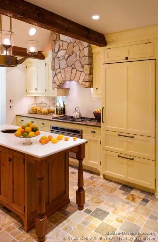 Kitchen Idea Of The Day A Creamy Butter Yellow Kitchen With A Stone