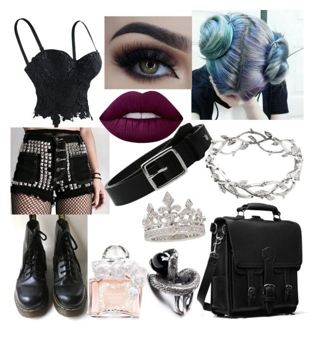 """""""Punk Princess"""" by liliebelle on Polyvore featuring Dr. Martens, Lime Crime, Guerlain, rag & bone, Tiffany & Co. and Garrard"""