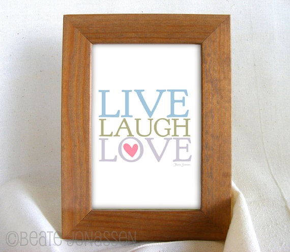 Instant Download Printable Wall Art  LIVE LAUGH by CuteMemories, $8.00