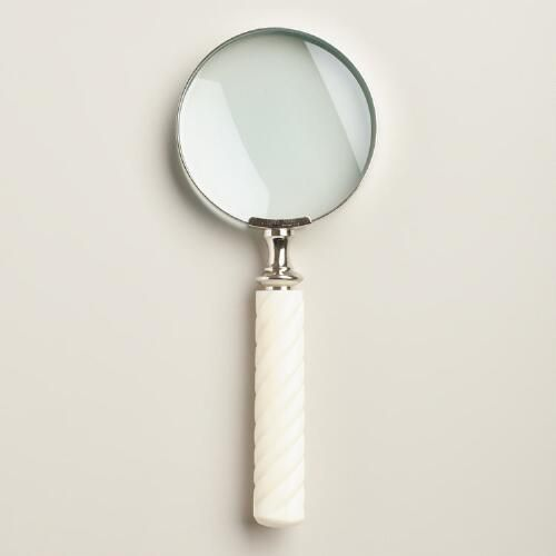 One of my favorite discoveries at WorldMarket.com: Ivory Resin Magnifying Glass