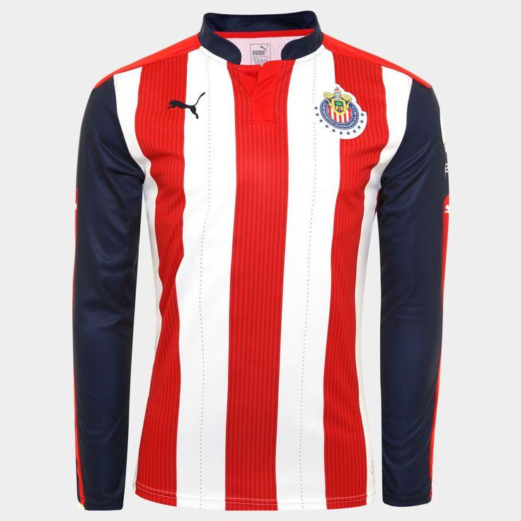 Soccer-International Clubs 2887: Chivas Guadalajara Puma Jersey 2016 - 2017 Home Casa Long Sleeve Larga Original -> BUY IT NOW ONLY: $59.99 on eBay!