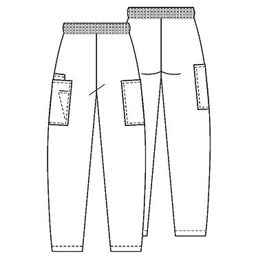Cherokee Workwear Women's Scrubs Elastic Waist Utility Scrub Pants....  For pocket stuffers  : )