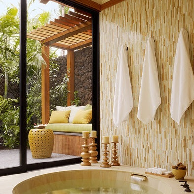 Check Out Tropical Bathroom Design Ideas. A Tropical Bathroom Provides A  Spa Like Experience And To Create Such An Interior In Your Bathroom You  Neednu0027t ...