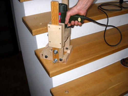Richard's homemade drill guide