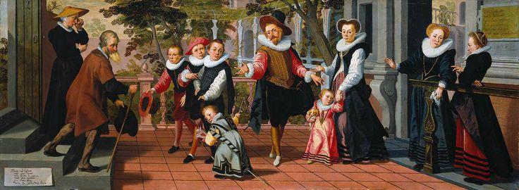 Les parents pauvres, les enfants riches, par Pieter Pietersz l'aîné
