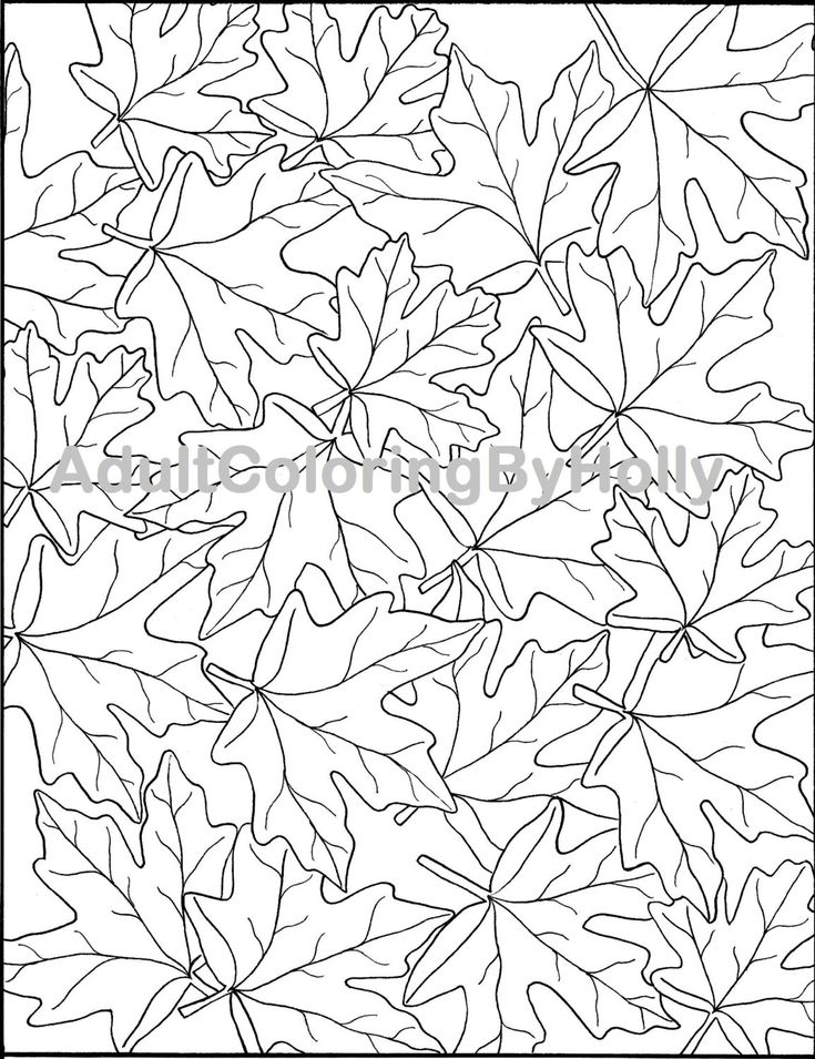 Amazing September Leaves Coloring Pages Vignette - Coloring Paper ...