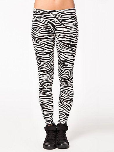 Zebra Leggings - Estradeur - Zebra - Leggings - Kläder - Kvinna - Nelly.com