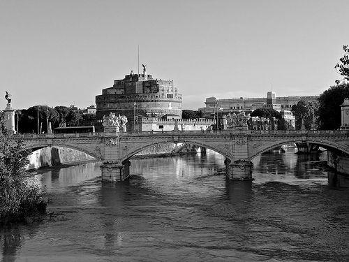 The Mausoleum of Hadrian - Castel Sant'Angelo, B & W