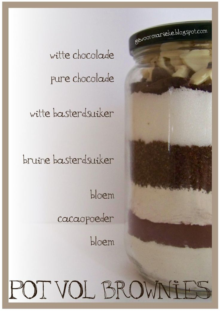 Pot vol Brownies/Brownies in a Jar | Gewoon Marieke