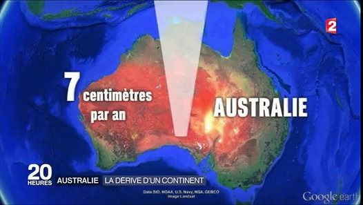 L'Australie a dérivé de 150 mètre http://www.dailymotion.com/video/x4nmn7y_l-australie-a-derive-de-1-50-metre_news
