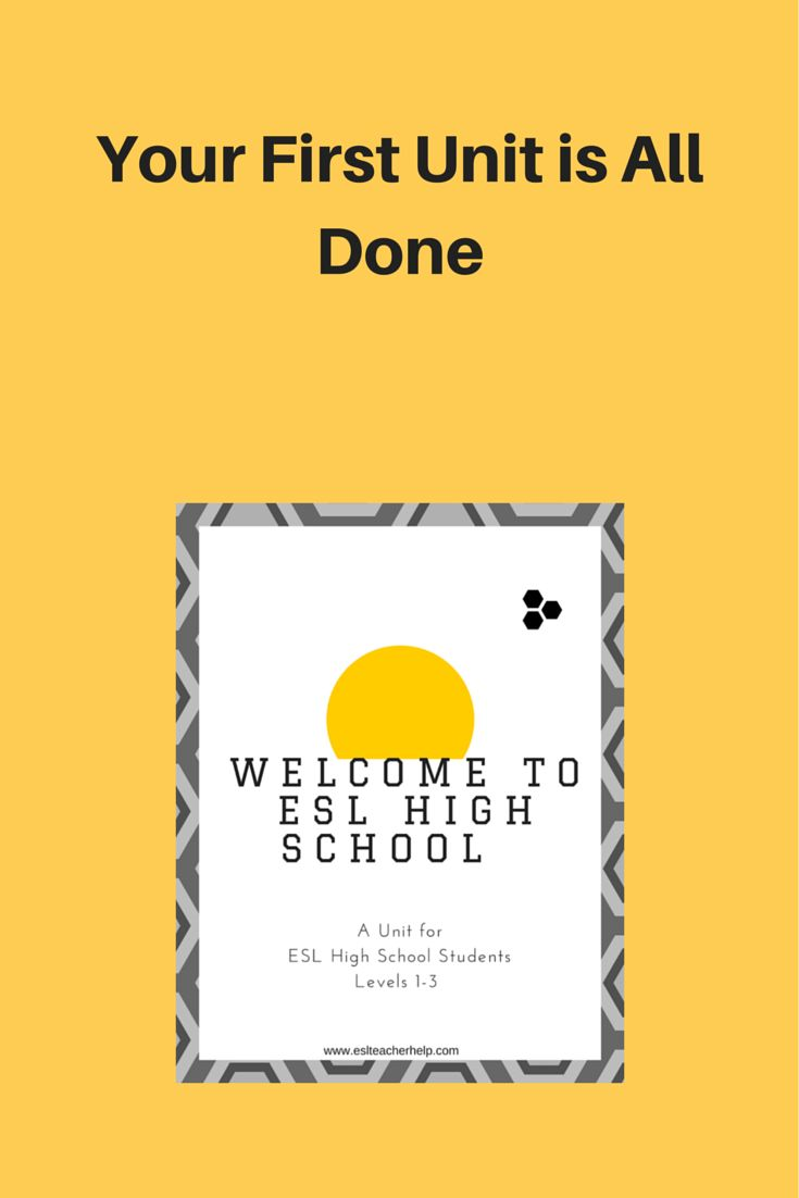 Esl Teachers In High School: Ease Into The School Year 20152016 With A