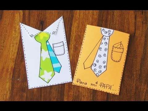 Manualidades Día del Padre: fotos tarjetas de felicitación DIY - Ideas tarjetas felicitación Día del Padre