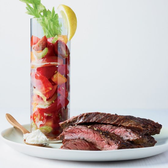 mary tomato salad recipe flank steak with bloody mary tomato salad ...