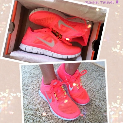 Cute Workout Gear | CheckInTheMirrorRunning Shoes, Workout Gears, Workout Shoes, Nike Free Running, Nike Running, Nike Free Runs, Neon Nike, New Shoes, Pink Nike