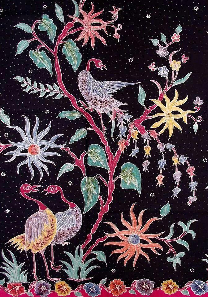 Hand-painted Batik Encim.