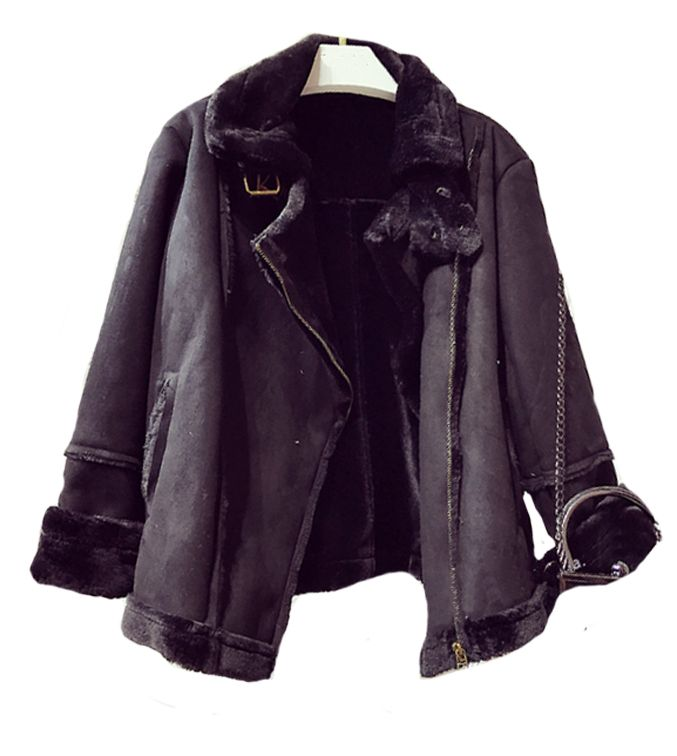 Black Shearling Aviator Coat. Winter Warmer and the perfect Gift