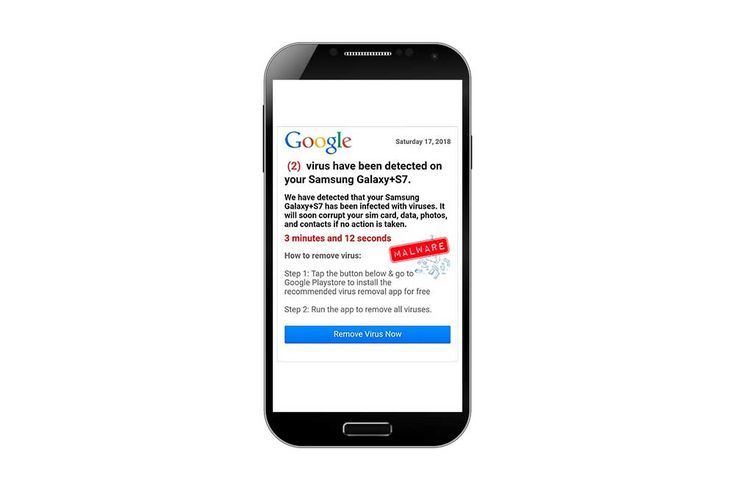 Android Phone Users Plagued by Fake Virus Alerts #android #malware #scam