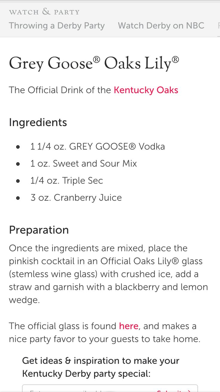 Easy grey goose recipes