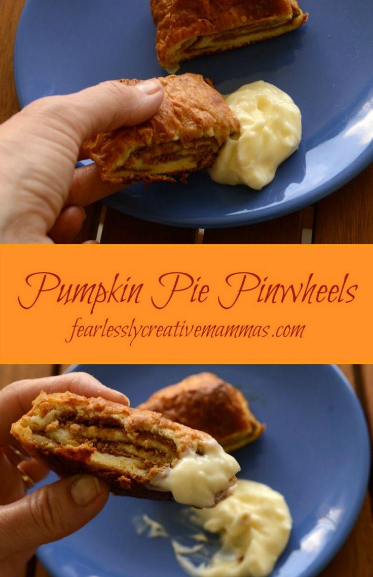Pumpkin-Pie-Pinwheels with Cream Cheese Sauce