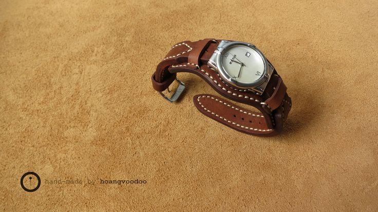 leather watch bund strap