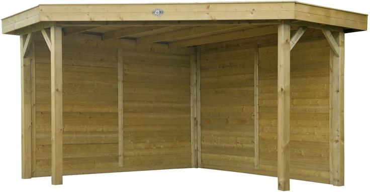 Hoekmodel prieeltje / buitenkeuken Outdoor Cabin Excellent van Hillhout