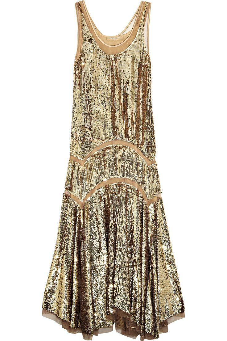 Michael Kors|Sequined midi dress|NET-A-PORTER.COM