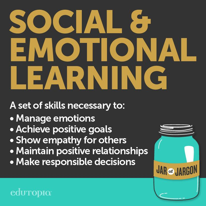 During Bullying Prevention Month, you might hear a lot of people talking about Social & Emotional Learning, or SEL. So, what does that mean? This image breaks it down. For more information & resources, visit our Social and Emotional Learning topic page.