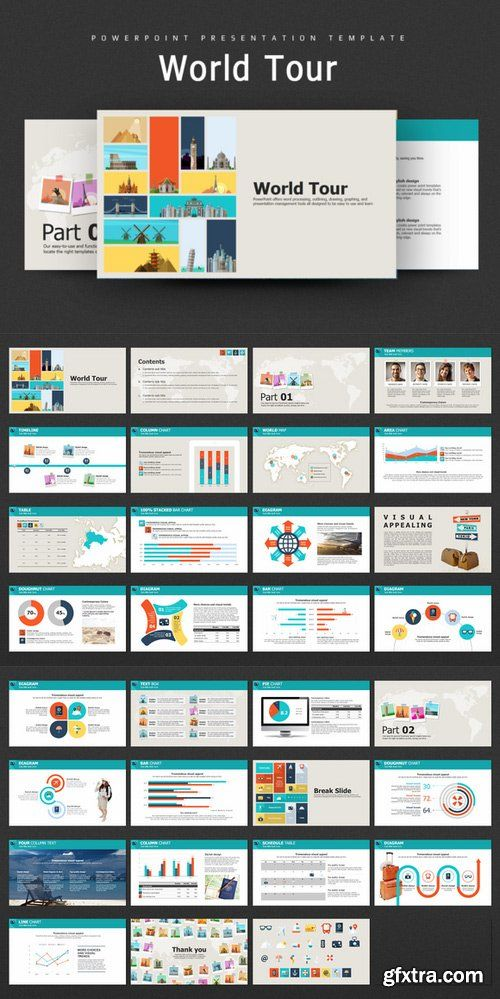 CM - World Tour PowerPoint Template  758612