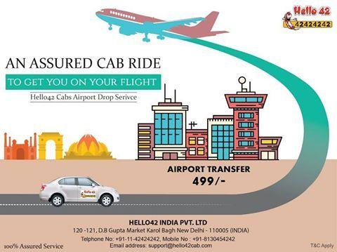 Airport transfer services in Delhi.